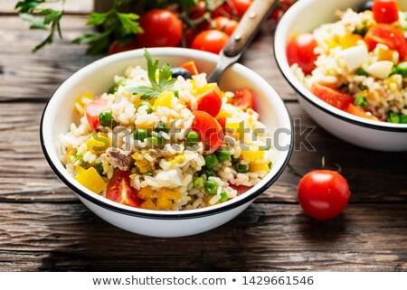 Rijst Italiaans salade vers groenten ingericht Stockfoto © trexec