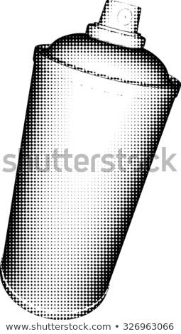 spraycan halftone shading in black and white Stock photo © Melvin07
