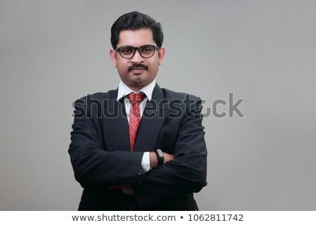 Portret zuiden indian zakenman glimlachend Stockfoto © imagedb