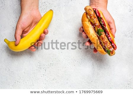 飢えた · 男 · 食べ · サンドイッチ · ビッグ · 食品 - ストックフォト © alphaspirit