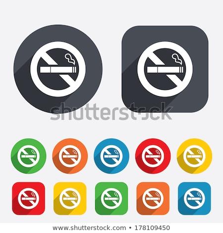 no smoking sign yellow vector icon button stock photo © rizwanali3d