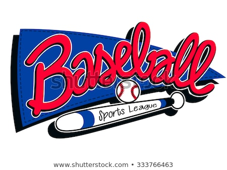 azul · béisbol · liga · banner · pelota · deportes - foto stock © adamfaheydesigns