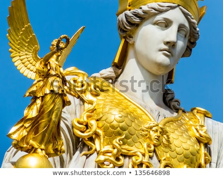 Estátua Viena Áustria parlamento céu arte Foto stock © vladacanon