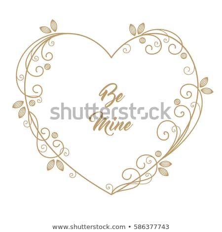 декоративный цветочный сердце иллюстрация цветок природы Сток-фото © kariiika