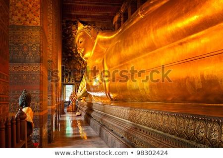 meditando · buda · estátua · bronze · sessão · posição - foto stock © mariusz_prusaczyk