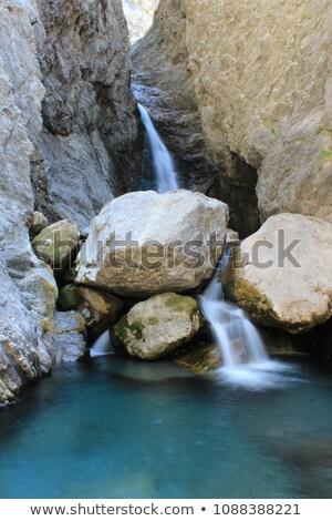 Cair pequeno córrego vale água Foto stock © pedrosala