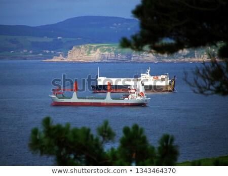Paisagem navio típico céu grama Foto stock © Arrxxx