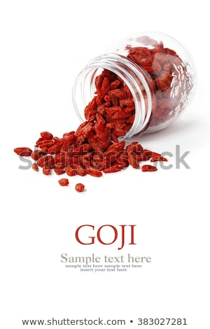 Healthy diet concept with dried goji berries Stock photo © ozgur