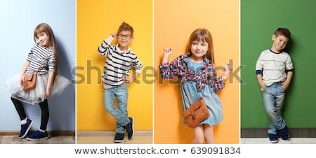 sevimli · küçük · erkek · komik · saç · yüz · buruşturma - stok fotoğraf © zurijeta