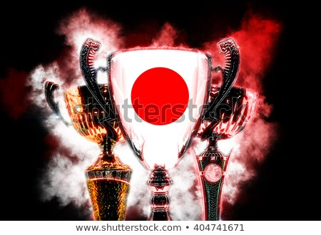 trophy cup textured with flag of japan digital illustration stock photo © kirill_m