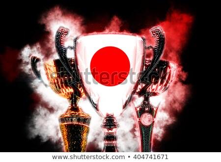 Trófea csésze mintázott zászló Japán digitális illusztráció Stock fotó © Kirill_M