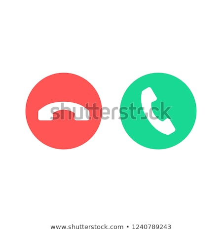 Phone Call end vector Icon Stock photo © MarySan