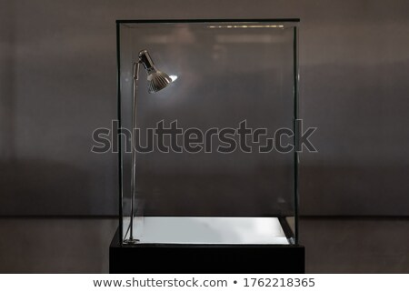 Display case. Showcase in room with windows Stock photo © cherezoff