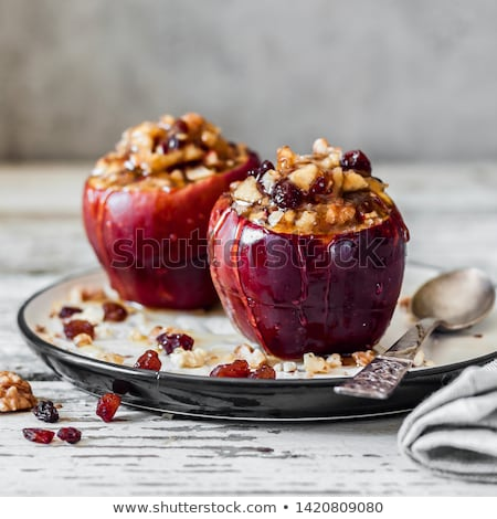 maçã · caramelo · isolado · branco · fresco · doce - foto stock © digifoodstock
