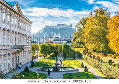 barokk · porta · kolostor · park · Ausztria · fű - stock fotó © vichie81