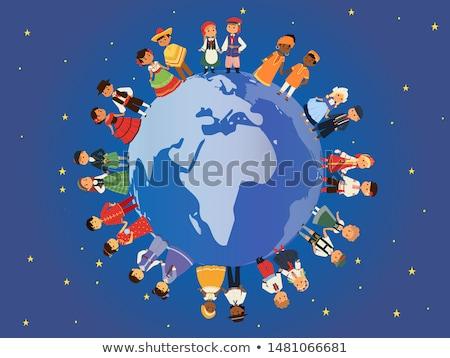 karikatür · toprak · örnek · gezegen · gülümseme - stok fotoğraf © vectorikart