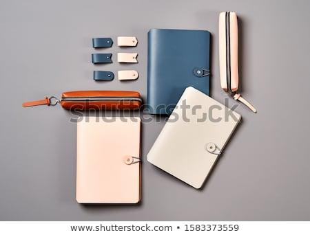 Handmade Leather Notepads Stock photo © zhekos