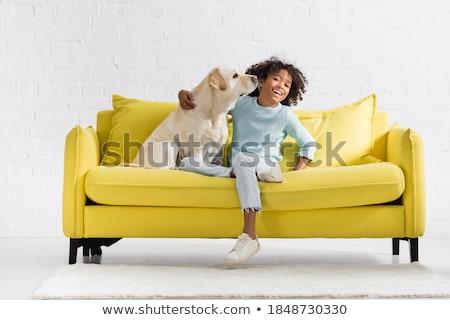 Girl on the sofa Stock photo © bezikus