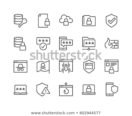pirate sign icon set stock photo © vector1st