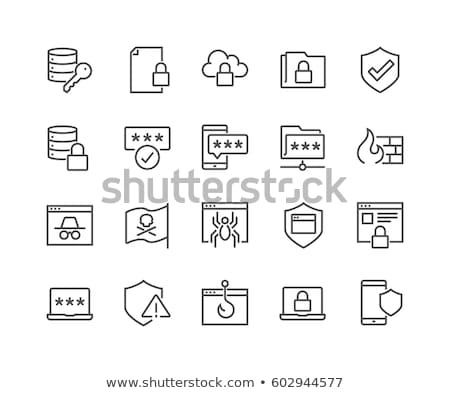 Kalóz felirat ikon gyűjtemény vektoros kép illusztráció doboz Stock fotó © vector1st