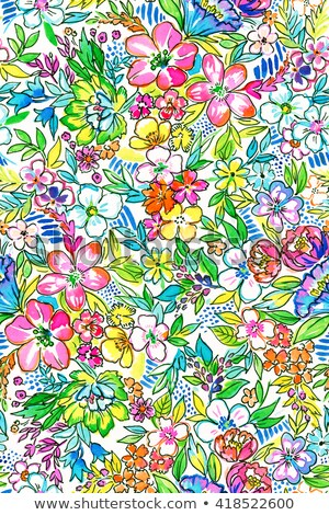 Absztrakt művészi többszörös szivárvány virágmintás textúra Stock fotó © pathakdesigner
