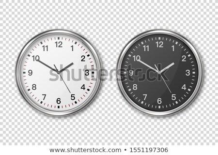 Design with silver clock Stock photo © blackmoon979