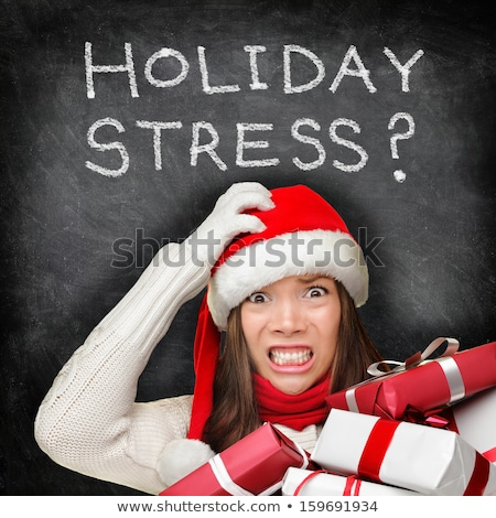 Concept Of Christmas Holiday Stress Stock photo © Lightsource