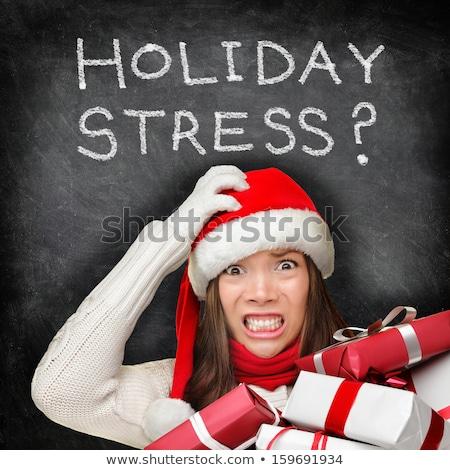 Noël vacances stress hiver blizzard tempête Photo stock © Lightsource