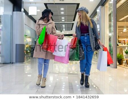 かなり · 笑い · ブロンド · 買い物客 · ゴージャス · ブロンド - ストックフォト © fouroaks