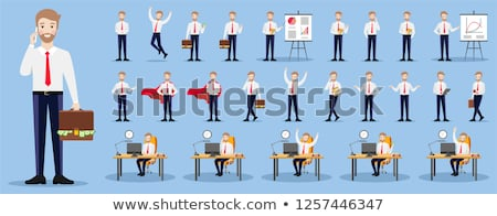 Man Character Template Vector Illustration. Stock photo © robuart