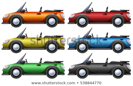 Convertible cars in six colors Stock photo © bluering