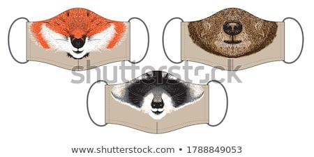 Design with fluffy masks Stock photo © blackmoon979