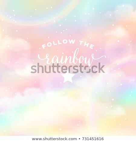 Sterren zon bewolkt witte Blauw Stockfoto © meinzahn