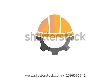 Gear with Helmet design Stock photo © sdCrea