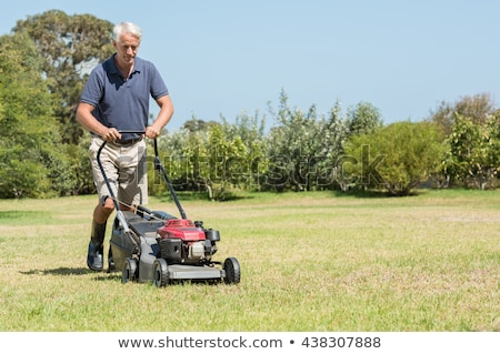 Senior man mowing his garden  Stock photo © lightpoet