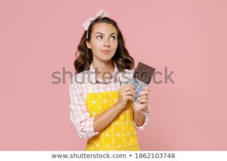kobieta · pragnienie · słodkie · deser · młoda · kobieta · posiedzenia - zdjęcia stock © kzenon