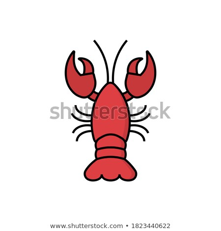 crawfish icon flat style lobster isolated on white background vector illustration clip art stock photo © lucia_fox