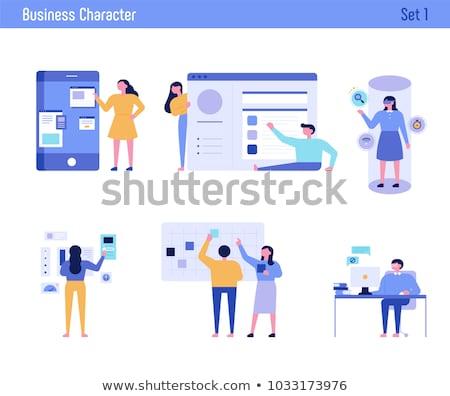 Сток-фото: человека · характер · дизайна · бизнесмен · вектора · стиль
