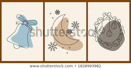 Hiver résumé flocons de neige bannières Photo stock © olgaaltunina