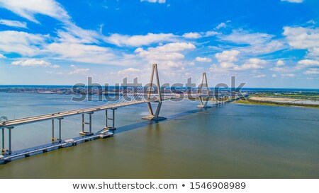 rivier · brug · South · Carolina · water · kabel · kleur - stockfoto © iofoto