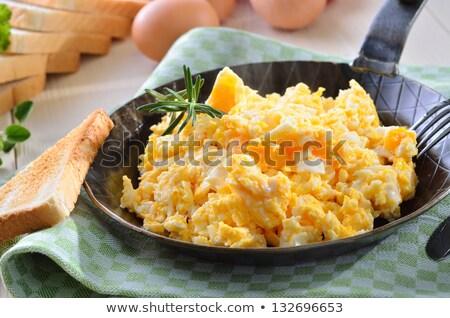 Roereieren ontbijt tabel afbeelding Stockfoto © dariazu
