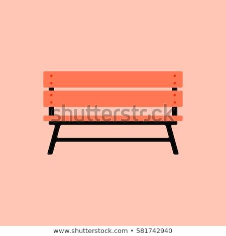 Bench isolated. Flat settle on white background. Stock photo © MaryValery