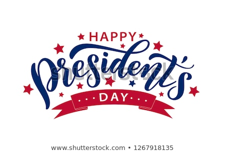 Presidents day. Lettering text for greeting card Stock photo © orensila