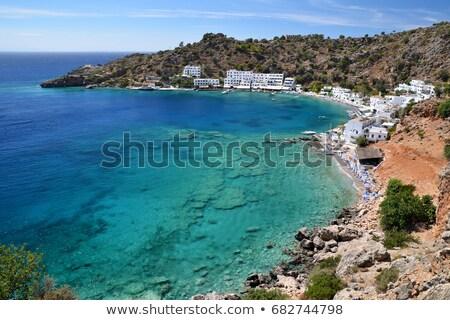 Beautiful places in Crete - pictorial small fishing village Chora Sfakion,Greece. Stock photo © Freesurf