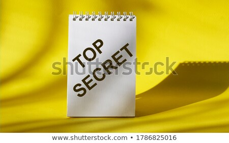 Stockfoto: Geel · kantoor · map · opschrift · business · mail