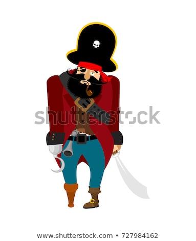 пиратских · печально · меланхолия · пират · депрессия · вектора - Сток-фото © popaukropa