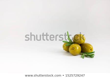 Marynowane zielone oliwek deska do krojenia Zdjęcia stock © Digifoodstock