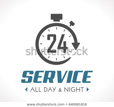 часы набирать номер черный 24 службе Сток-фото © Oakozhan