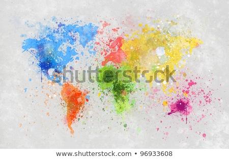 wereld · veelkleurig · pijlen · abstract · Blauw - stockfoto © romvo