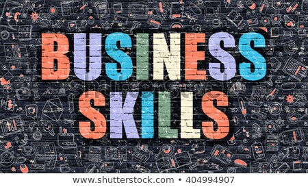 Business Skills in Multicolor. Doodle Design. Stock photo © tashatuvango